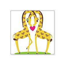 "Giraffe Love Square Sticker 3"" x 3"""