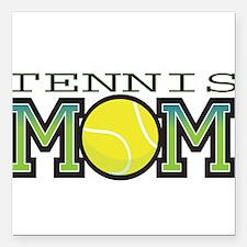 "tennis_mom.png Square Car Magnet 3"" x 3"""