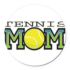 tennis_mom.png Round Car Magnet