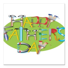 happy_fathers_day_2.png Square Car Magnet 3