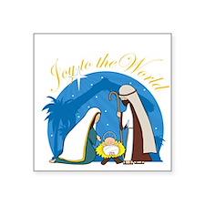 """nativity scene cp.png Square Sticker 3"""" x 3"""""""