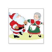 """mr_mrs_claus.png Square Sticker 3"""" x 3"""""""