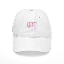 QSC initials, Pink Ribbon, Baseball Cap
