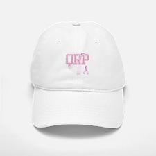 QRP initials, Pink Ribbon, Baseball Baseball Cap