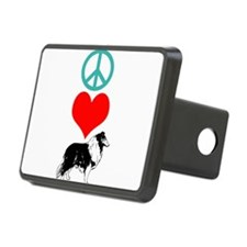 Peace Love Collie Hitch Cover