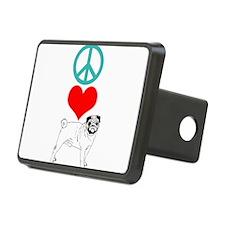 Peace Love Pug Hitch Cover
