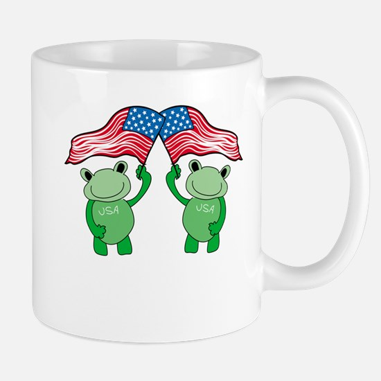 Patriotic Frogs Mug