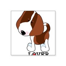 """beagle lover.png Square Sticker 3"""" x 3"""""""