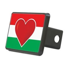 Heart Hungary Flag Hitch Cover