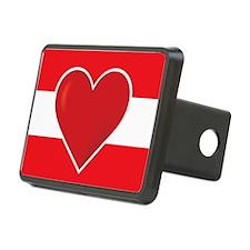 Heart Austria Flag Hitch Cover