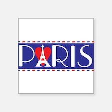 "Love Paris Square Sticker 3"" x 3"""
