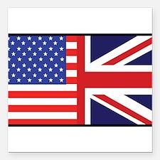 "america_britain.jpg Square Car Magnet 3"" x 3"""