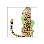 Animal Alphabet Jaguar Square Sticker 3