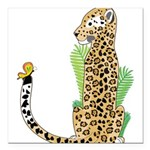 Animal Alphabet Jaguar Square Car Magnet 3
