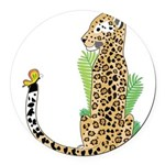 Animal Alphabet Jaguar Round Car Magnet