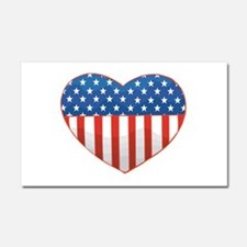 Love America Car Magnet 20 x 12