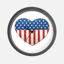 Love America Wall Clock