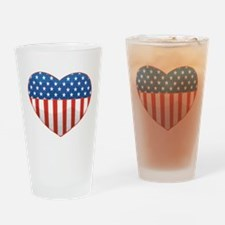 Love America Drinking Glass