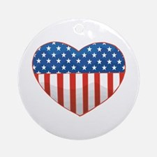 Love America Ornament (Round)