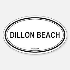 Dillon Beach oval Oval Decal