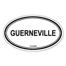 Guerneville oval Oval Decal