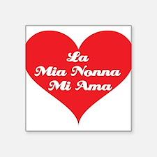 "grandma_loves_me_italian2.jpg Square Sticker 3"" x"