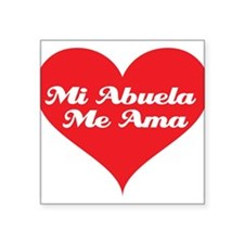"grandma_loves_me_spanish.jpg Square Sticker 3"" x 3"