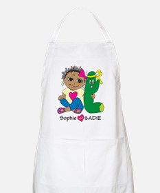 Sophie and Sadie sitting together Apron
