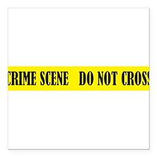 """crime scene banner.png Square Car Magnet 3"""" x 3"""""""