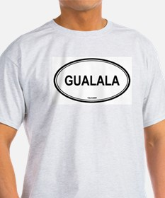 Gualala oval Ash Grey T-Shirt