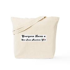 San Juan Bautista girl Tote Bag