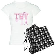 TET initials, Pink Ribbon, Pajamas