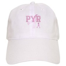 PYR initials, Pink Ribbon, Baseball Cap