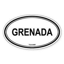 Grenada oval Oval Decal