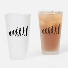 On Crutches Drinking Glass