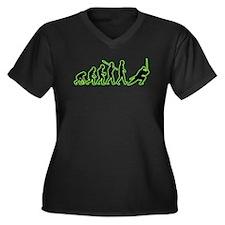 Ninja Women's Plus Size V-Neck Dark T-Shirt