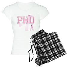 PHD initials, Pink Ribbon, Pajamas