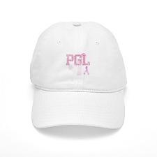PGL initials, Pink Ribbon, Baseball Cap