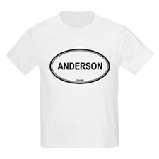 Anderson oval Kids T-Shirt