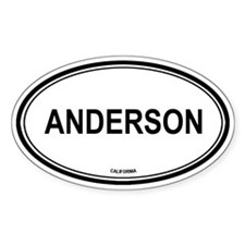 Anderson oval Oval Decal