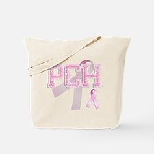 PCH initials, Pink Ribbon, Tote Bag