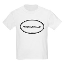 Anderson Valley oval Kids T-Shirt