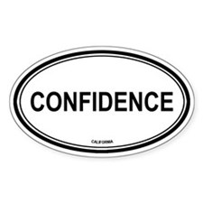Confidence oval Oval Decal