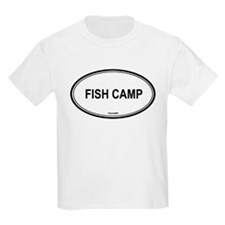 Fish Camp oval Kids T-Shirt