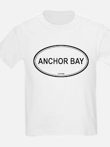 Anchor Bay oval Kids T-Shirt