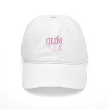 OUM initials, Pink Ribbon, Baseball Baseball Cap