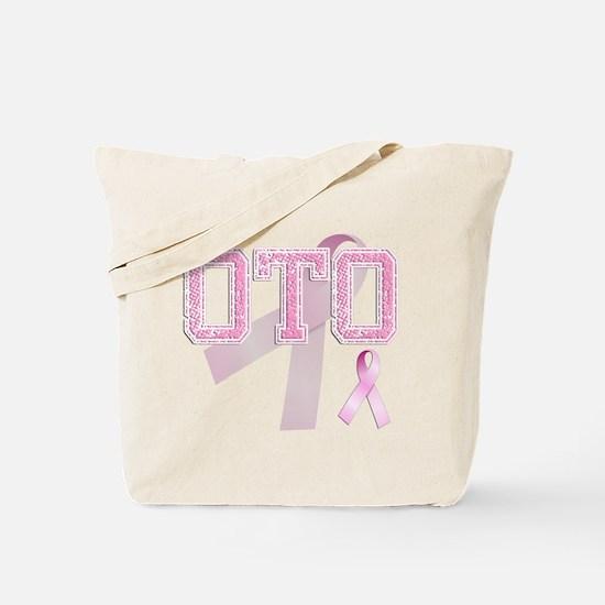 OTO initials, Pink Ribbon, Tote Bag
