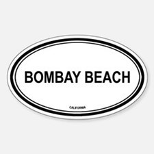 Bombay Beach oval Oval Decal