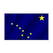 Alaska State Flag Rectangle Car Magnet