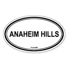 Anaheim Hills oval Oval Decal